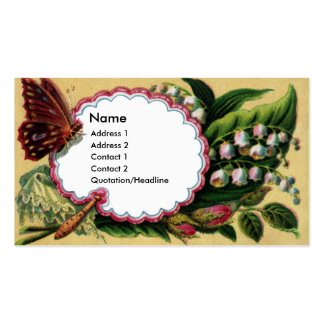 Butterfly on Fan Victorian Calling Card Business Card