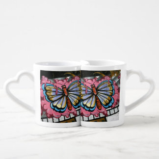 Butterfly on film coffee mug set