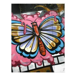 Butterfly on film letterhead