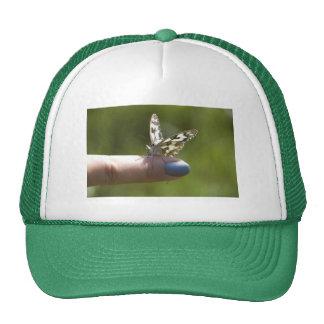 butterfly on finger mesh hats