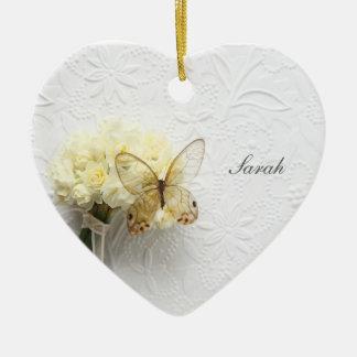 Butterfly on flower bouquet ornaments