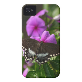 Butterfly on Flower iPhone 4 Case-Mate Case