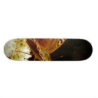 Butterfly on flower custom skateboard