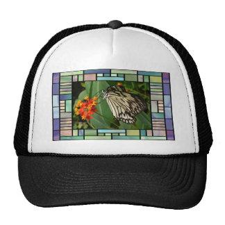 Butterfly on flower cap