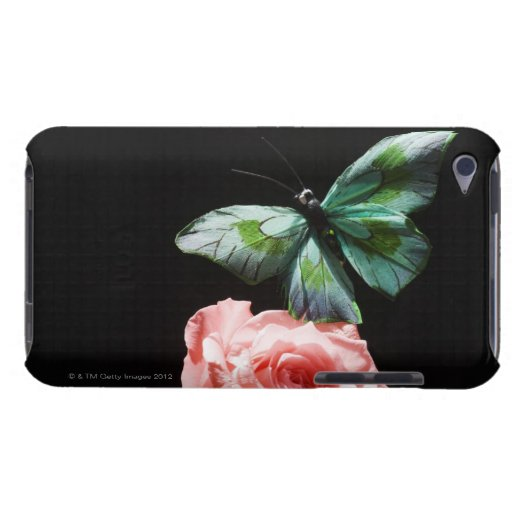 Butterfly on flower iPod touch case
