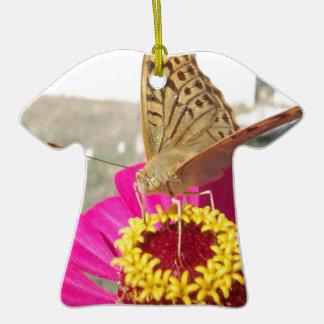 Butterfly on flower ornaments