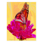 Butterfly on Flower products Post Card