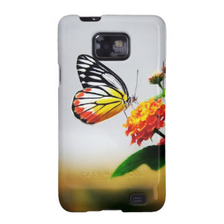 Butterfly on Flower Sam Sung Galaxy Case Samsung Galaxy S Cases