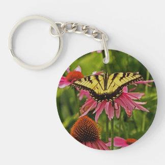 Butterfly on Flower v11 Keychain