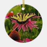 Butterfly on Flower v11 Ornament