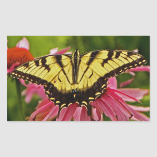 Butterfly on Flower v12 Stickers