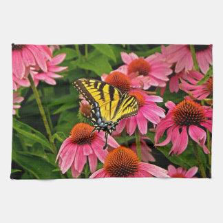 Butterfly on Flower v21 Kitchen Towel