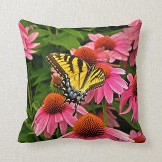 Butterfly on Flower v21 Pillow