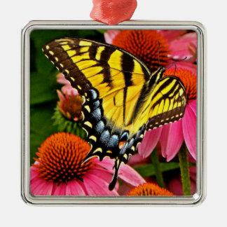 Butterfly on Flower v22 Ornament
