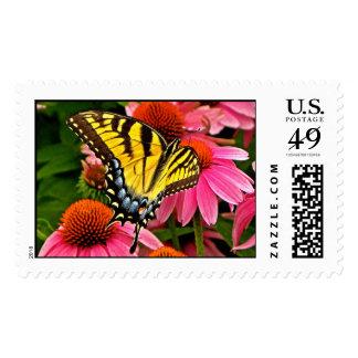Butterfly on Flower v22 Stamp