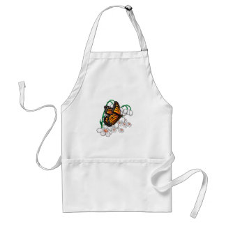 Butterfly on flowers adult apron