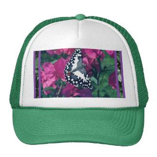 Butterfly on Flowers Cap Trucker Hat