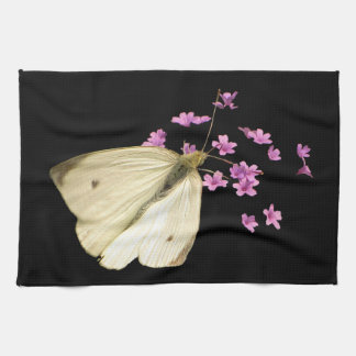Butterfly on Flowers Kitchen Towels