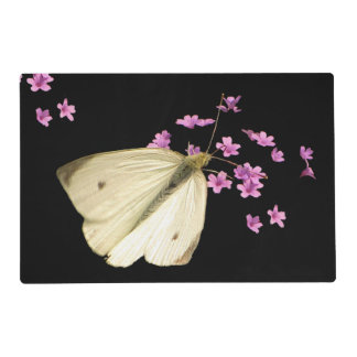 Butterfly on Flowers Laminated Placemat