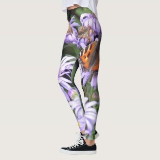 Butterfly On Flowers Leggings
