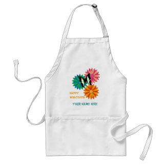 Butterfly on Flowers Personalized Apron