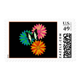 Butterfly on Flowers Postage
