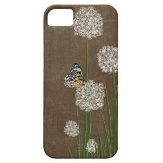 butterfly on fluff iPhone SE/5/5s case