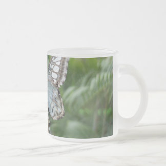 Butterfly on glasshouse window, Kew Gardens Frosted Glass Coffee Mug