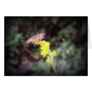 Butterfly on Goldenrod Flowers Card
