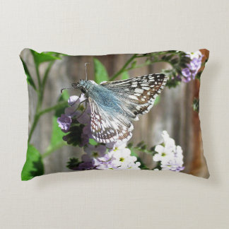 Butterfly on Heliotrope Accent Pillow