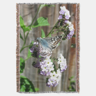 Butterfly on Heliotrope Throw