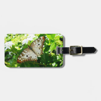 Butterfly on Jasmine Tropical Nature Photography Luggage Tag