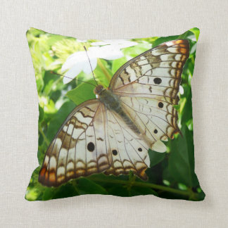 Butterfly on Jasmine Tropical Nature Photography Throw Pillow