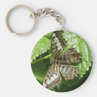 Butterfly on Leaf Keychain