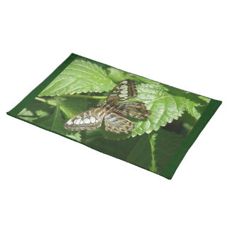 Butterfly on Leaf Placemat Cloth Placemat