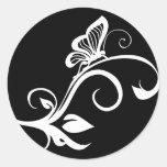 Butterfly On Leafy Vine Stickers