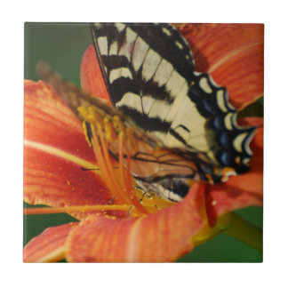 Butterfly on Lily Tile