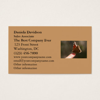 Butterfly On My Finger Business Card