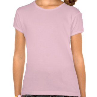 Butterfly on Pink and Blue Flowers Girl's T-Shirt