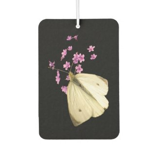 Butterfly on Pink Flower Air Freshener
