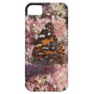 Butterfly on pink flower iPhone SE/5/5s case