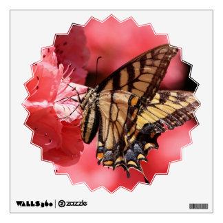 Butterfly on Pink Flower Wall Sticker