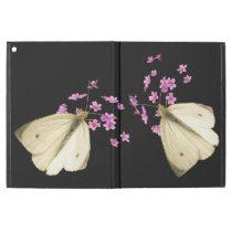 Butterfly on Pink Flowers iPad Pro Case