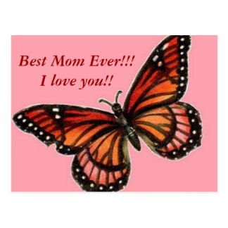 Butterfly on Pink Happy Mother's Day!!! Postcard