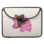 Butterfly on Pink Lantanas Sleeve For MacBooks