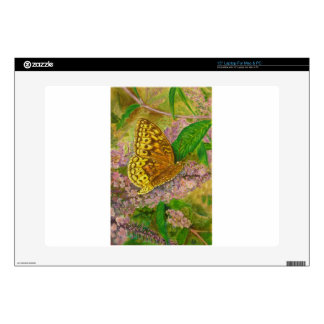 Butterfly on purple butterfly bush Buddleia david Decals For Laptops