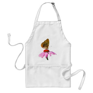 Butterfly On Purple Coneflower Adult Apron