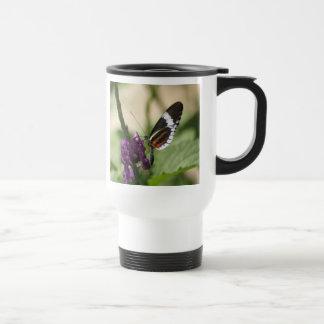 Butterfly on Purple Flower Travel Mug