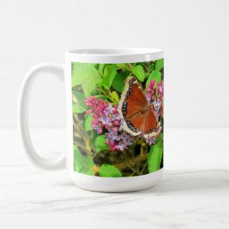 Butterfly on Purple Lilacs Classic White Coffee Mug