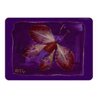 Butterfly on Purple sympathy card, condolence note Card